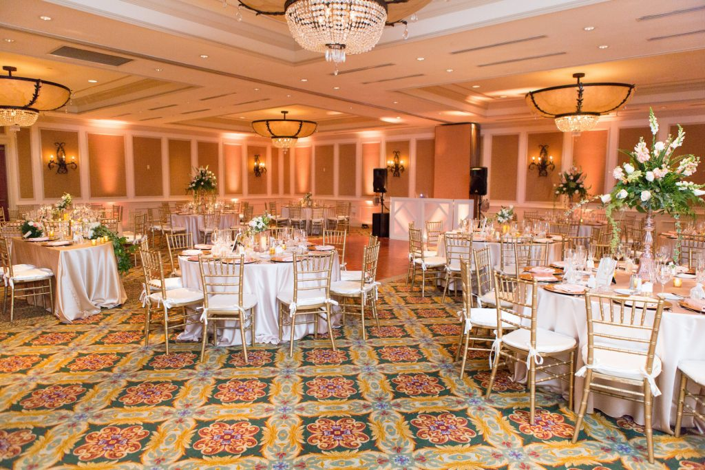 delray beach mariott ballroom wedding reception flowers by panache style