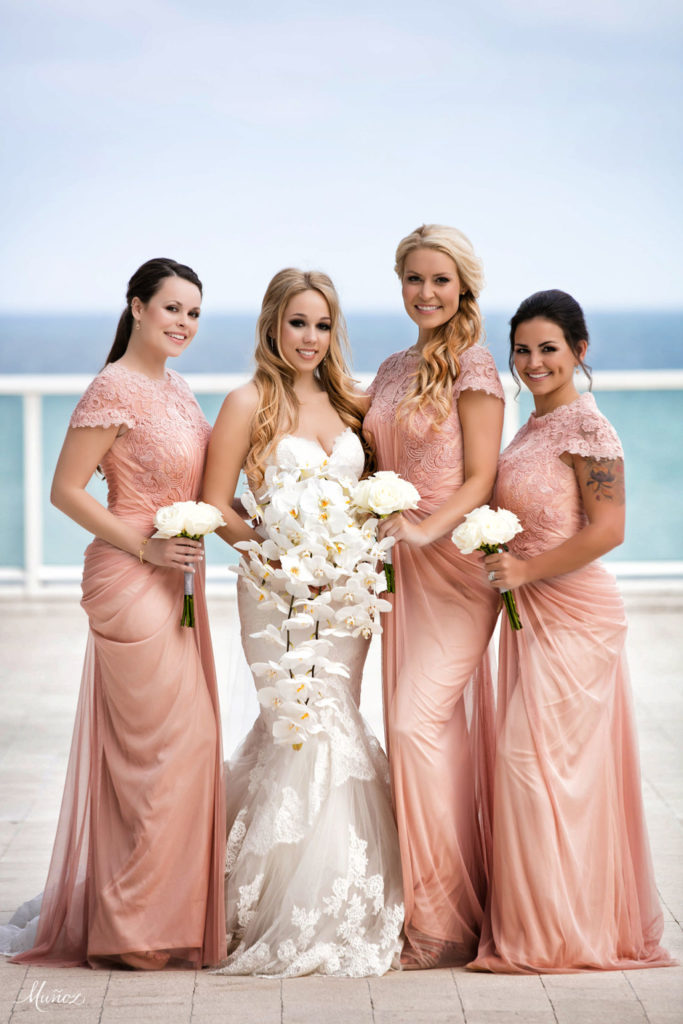Phalaenopsis orchid bouquet by Panache style W fort lauderdale wedding
