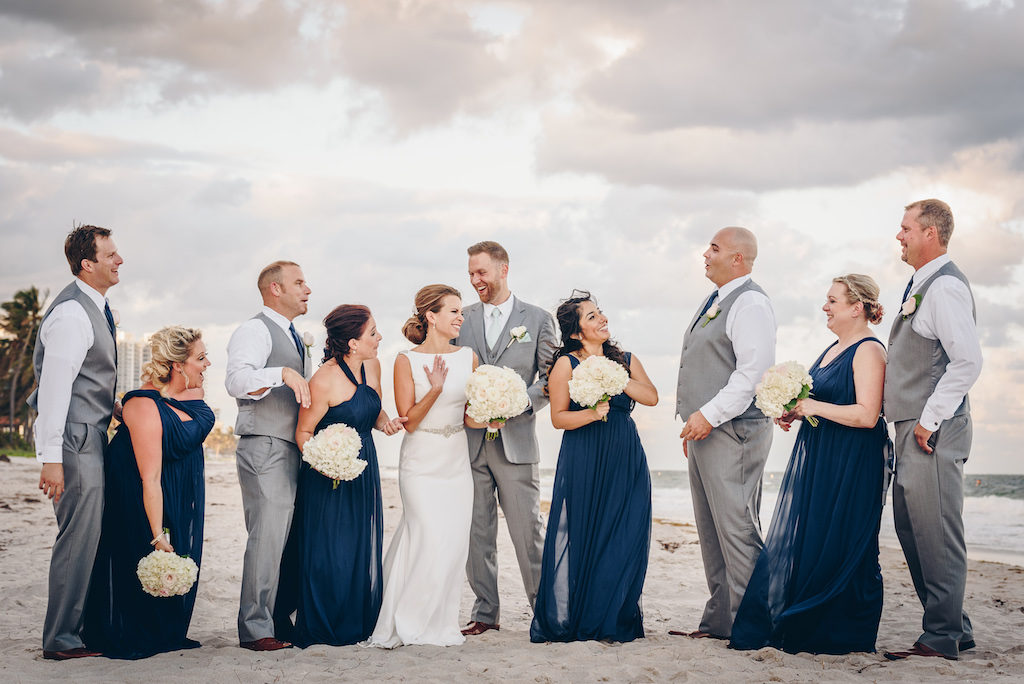 Pelican Grand Resort, Justin Young Photography, Panache Style, Village Jewelers, Badgley Mischka, Pelican Grand Resort Wedding, Navy Wedding, White Wedding, Ocean View Wedding, Florida Wedding
